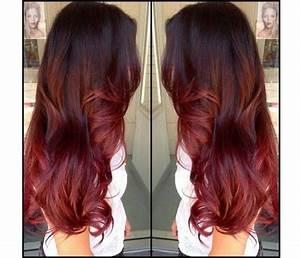 Ombré Hair Rouge : ombr hair rouge framboise ~ Melissatoandfro.com Idées de Décoration