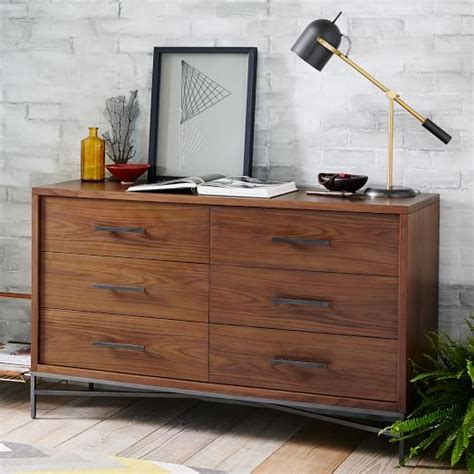 6 drawer dresser 100 city storage 6 drawer dresser walnut west elm