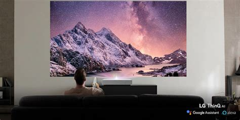 LG's 4K HDR projector offers a 120 inch screen from just 8