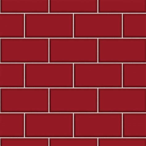 Subway Tile ? Red   Wallsorts