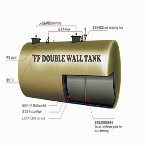 horizontal oil tanks double walled fuel fibreglass oil