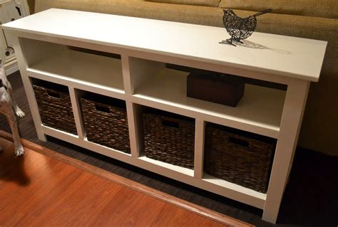Sofa Table Storage White Sofa Table With Storage Console