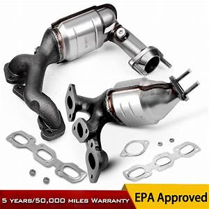 Front  U0026 Rear Exhaust Catalytic Converter Manifold For 01