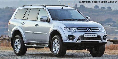 Mitsubishi Pajero Sport Image by Mitsubishi Pajero Sport 2 5di D 4x4 Specs In South Africa