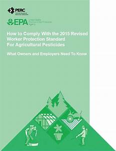 Revisions To Worker Protection Standard Effective January