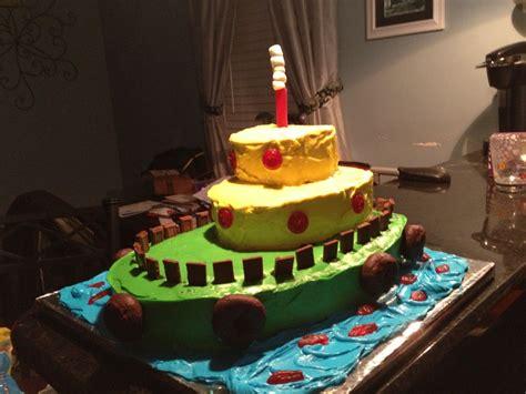 Tugboat Cake by Tug Boat Birthday Cake Cakes Pinterest Tug Boats