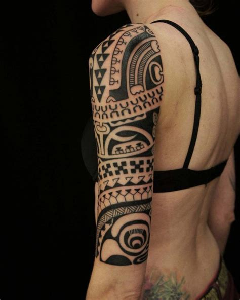 tribal  sleeve tattoo girl  tattoo ideas gallery