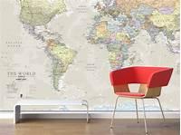 best world map wall murals giant classic world map mural by maps international ...