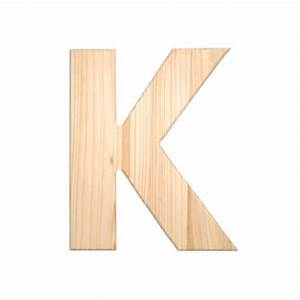 12quot natural unfinished wood letter k With letters made of wood