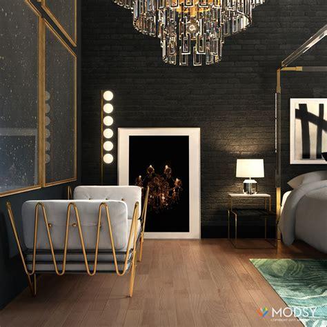 hollywood glam bedroom   industrial twist