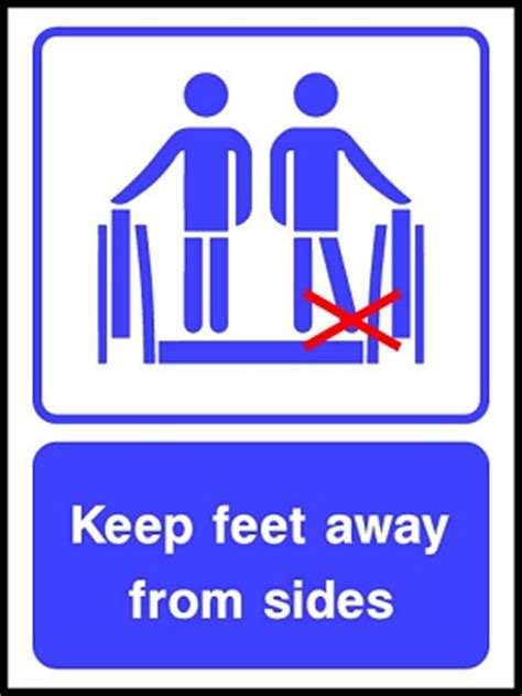 lift safety signs escalator lift   service sign uk