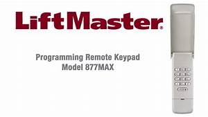 Programming Garage Door Keypad Liftmaster