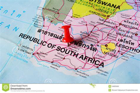 push pin map south africa map stock image image of land