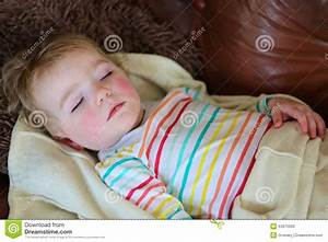 cute preschooler girl sleeping on sofa stock photo image With best pillow for 4 year old
