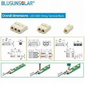 1000 Pcs  Lot 3 Pin Led Smd Wiring Terminal Block Push In