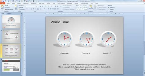clock shape  powerpoint  powerpoint