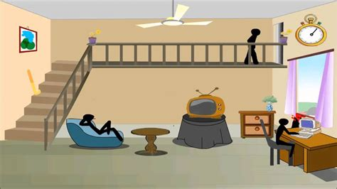 stickman living room stick level 1 living room walkthrough