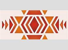 Stencil with Native American Designs 225 City of Lake