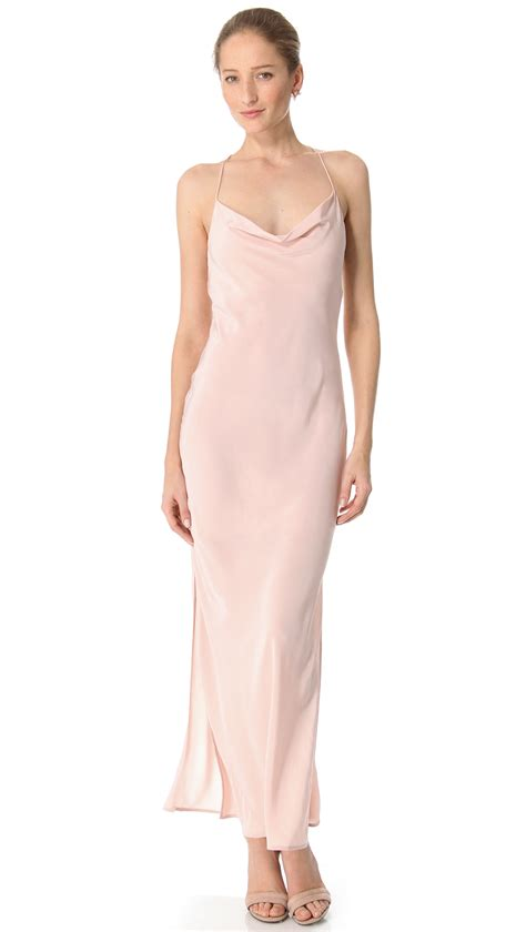 lyst splendid maxi dress zimmermann shoestring maxi dress in pink lyst