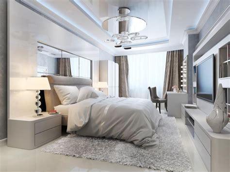 ambiance chambre adulte szara sypialnia inspiracje dodatki aranżacje weranda pl