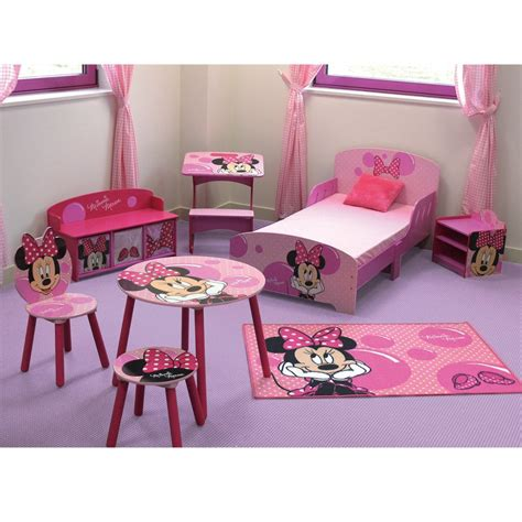 chambre fille disney minnie mouse bubbles rug great kidsbedrooms the