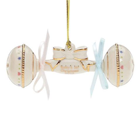 2012 lenox baby s first christmas rattle porcelain ornament