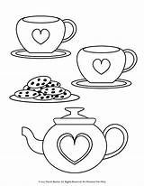 Tea Coloring Pages Printable Fancy Nancy Cup Party Colouring Sheets Preschool Getcolorings Printables Forka Info sketch template