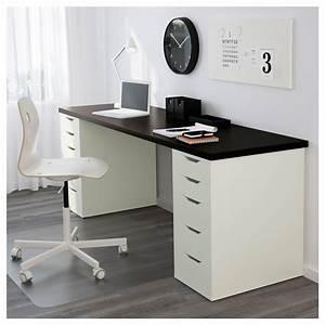 Ikea Schreibtisch Alex : alex linnmon table black brown white 200 x 60 cm ikea ~ Orissabook.com Haus und Dekorationen