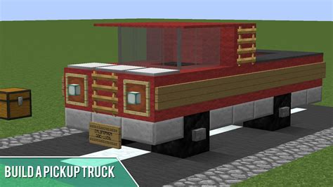 Minecraft How To Build A Pickup Truck Youtube