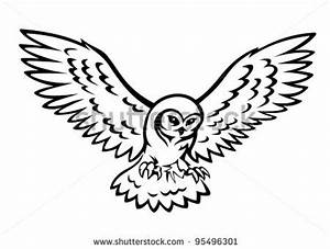 Flying Snowy Owl Clipart | Clipart Panda - Free Clipart Images