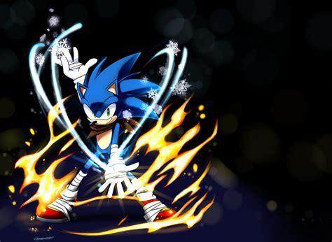 sonic boom sonic sonic  hedgehog ice fire
