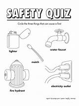 Safety Fire Coloring Sheets Activity Quiz Worksheets Printables Colouring Printable Activities Preschool Prevention Firesafety Freeprintable Week Kindergarten Spring Doll sketch template