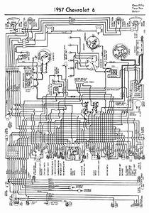 Complete Wiring Diagram For 1957 Chevrolet 6 One Fifty Two Ten And Belair  59747