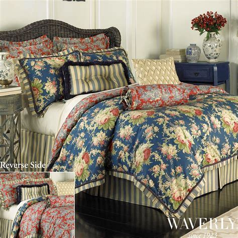 Sanctuary Rose Reversible Comforter Bedding by Waverly