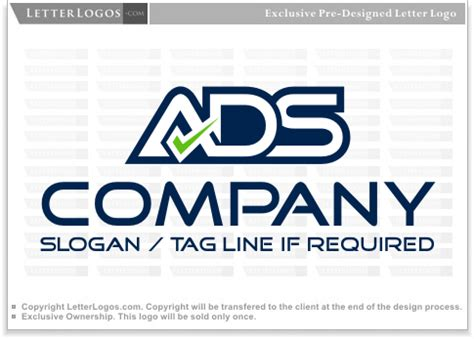 Letter Ads by Ads Logo With Check Letter A Logo 12