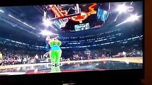 Aaron Gordon SLOW MOTION Sit Down Over Mascot Dunk - YouTube