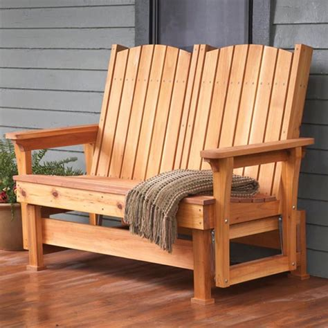 easy breezy glider woodworking plan  wood magazine