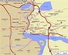 New York map niagara falls - ToursMaps.com