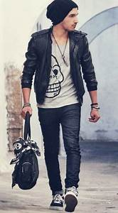 Menu0026#39;s Black Leather Jacket Style | Famous Outfits