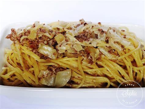 cuisiner la patate douce spaghettis crème viande oignons la tendresse en cuisine