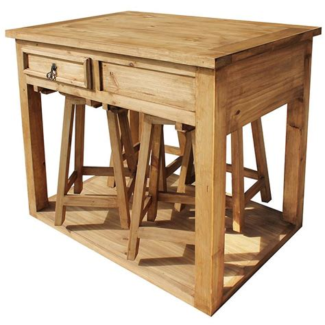 kitchen island with stools rustic pine collection kitchen island w stools mes90