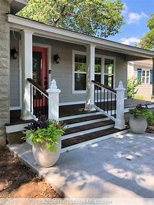 My Finished Front Porch Steps And Railings