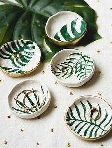DIY Tropical Leaf Trinket Dishes | Pinterest: Natalia ...