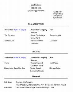 11 acting resume templates free samples examples With beginner resume template