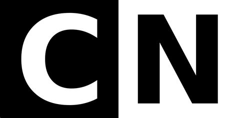 Cn Logo With White C On Black Background And Black N