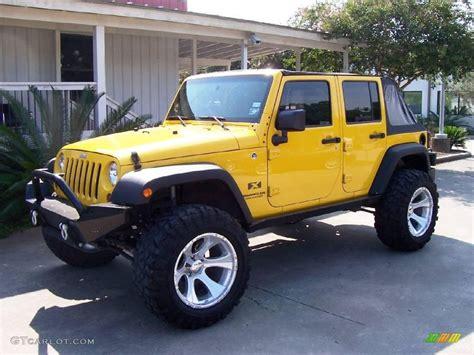jeep yellow 2008 detonator yellow jeep wrangler unlimited x 4x4
