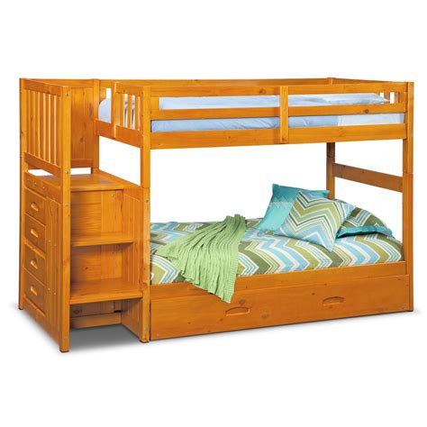 bunk bed with trundle desk and storage ranger twin over twin bunk bed with storage stairs
