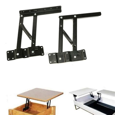 1pair Lift Up Top Coffee Tea Convertible Table Mechanism