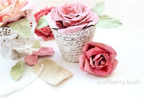 love bloomsfaux mulberry watercolor paper rose tutorial