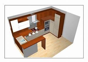 idees d39agencement cuisines ouvertes With plan de cuisine ouverte